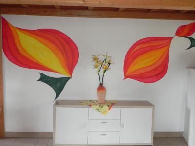 abstrakte Blütenknospen